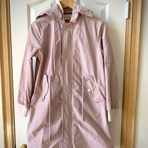 Lightweight pink long jacket/coat